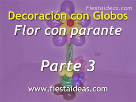 Curso de Decoración - Flor con Parante parte-3