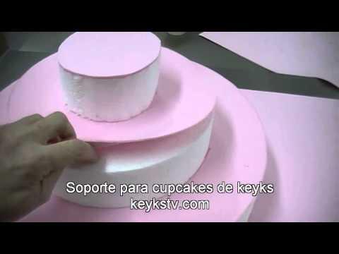 Cómo hacer un Stand - Soporte para cupcakes