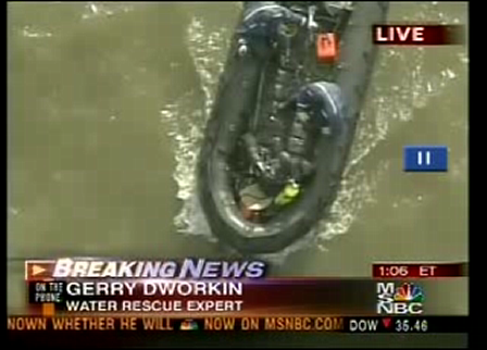 Car into Hudson River 2005