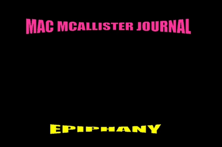 Mac McAllister Journal-Epiphany