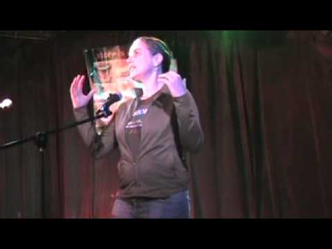 """T Party Story Slam, Norah tells """"ESP on the T"""" 11-16-10.mov"""
