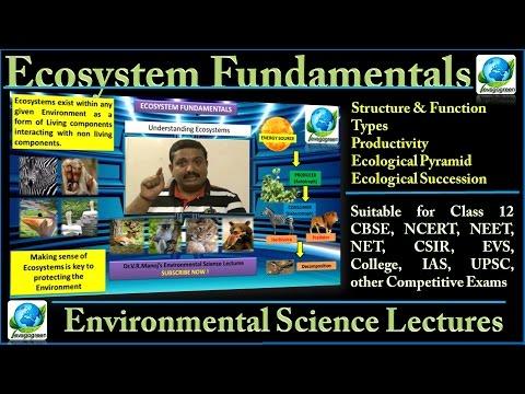 Ecosystem Fundamentals suitable for CBSE, NCERT, EVS, Competitive examinations IAS, NEET, UPSC, NET