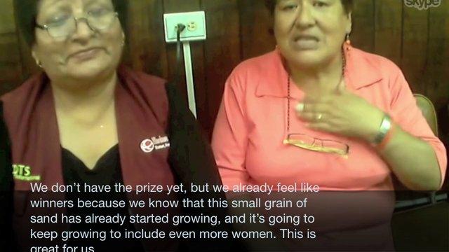 Groots Peru Speech- Finalist for Women Transforming Cities (WTC) Award
