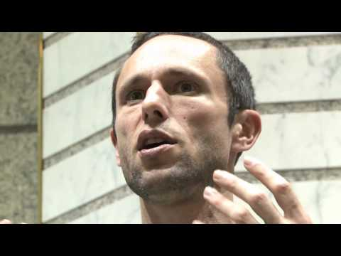 Occupy Wall St.-NYC-ReEnvisioning Money-Charles Eisenstein-October 24-2011-film by Antonio Ferrera