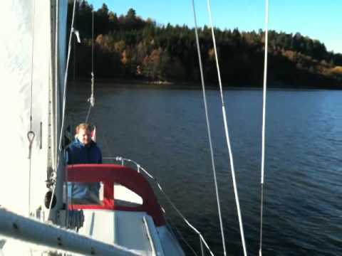 Testing Vegars new sailboat