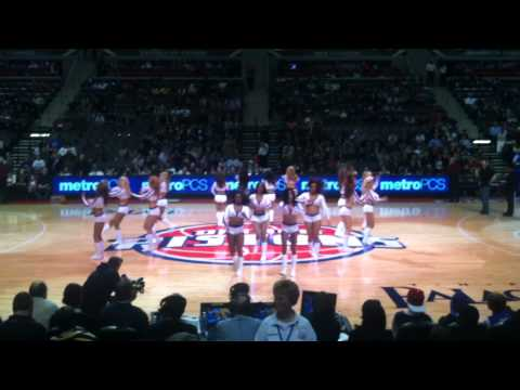 Detroit Pistons Dancers Perfrom to DJ Quick Tonight