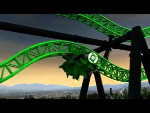 Three new roller coasters for Six Flags Magic Mountain in 2011! Superman Backwards Green Lantern