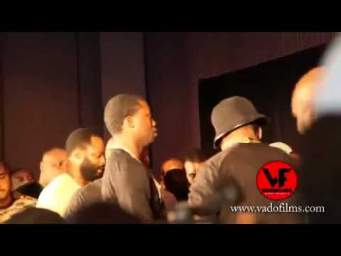 50 cent pushes Trav for disrespecting him on twitter. fight Almost Breaks Out