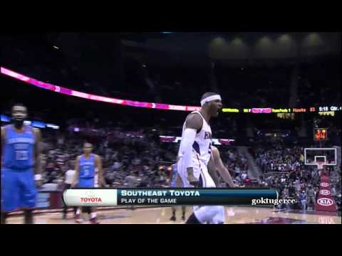 Josh Smith posterizes Serge Ibaka (HD)