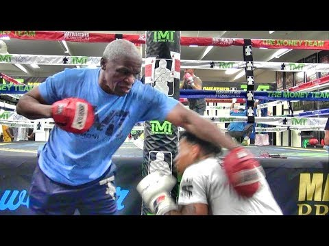 Floyd Mayweather Sr. shows RIDICULOUS speed at 65 years of age