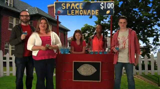 """Ella Rouhier, Mina Johnson and Michael Andrew Stock in """"You're Whole"""" infomercial"""