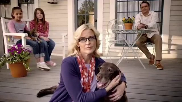 Rachel Albrecht in a commercial for Petco and Blue Buffalo Dog Food