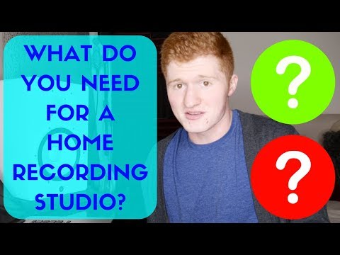 What Do You Need For A Home Recording Studio?
