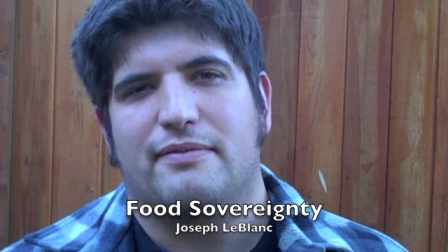 Food Sovereignty.Joseph LeBlanc