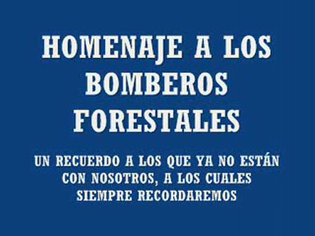 Homenaje a Bomberos Forestales
