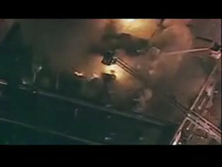 Bombero de Chicago envuelto en llamas