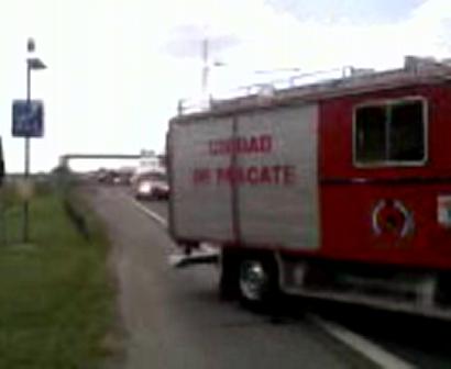 Accidente entre camiones