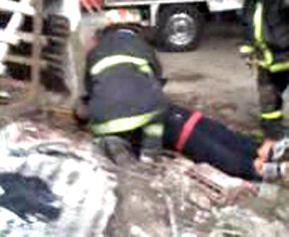 Simulacro para aspirantes-rescate de la primer victima