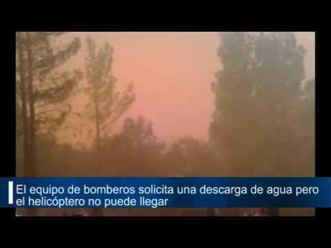 INCENDIO HORTA DE SANT JOAN, PROVINCIA DE TARRAGONA / CATALUÑA EN ESPAÑA ( el fuego nos viene por t…