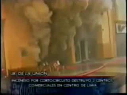 FLASHOVER EN INCENDIO DE CENTRO COMERCIAL DEL CENTRO DE LIMA, PERÚ / Video Destacado de La Hermandad de Bomberos