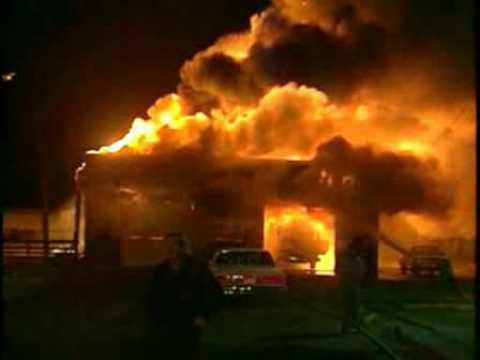 incendio en un cuartel de bomberos