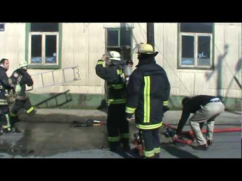 Incendio en Valdivia, Chile / Equipo R.I.T. en el lugar