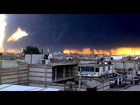 Explosion en San Martin Texmelucan Puebla en ductos de PEMEX (19 de Diciembre de 2010)