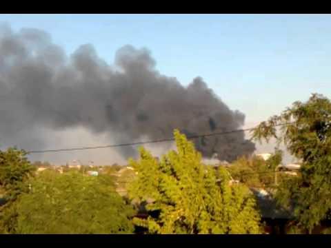 CHILE incendio en Cerrillos fabrica de plastico serplas