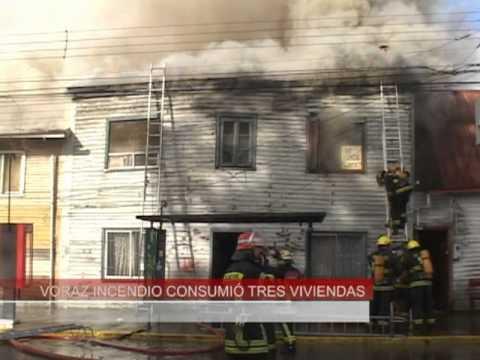 11 de Julio de 2011 / Incendio de tres Viviendas / Valdivia, Chile