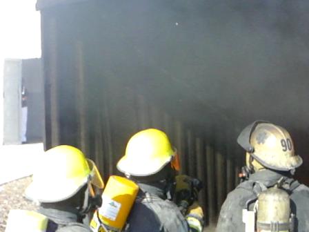 20 DE MAYO DE 2012 / ENTRENAMIENTO DE TECNICAS 3D (WF) EN SIMULADOR DE FLASHOVER FASE 3 / CUERPO DE…