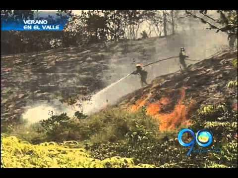 26 de Julio de 2012 / Alerta por incendios forestales en zona rural de Cali / Cali en Colombia