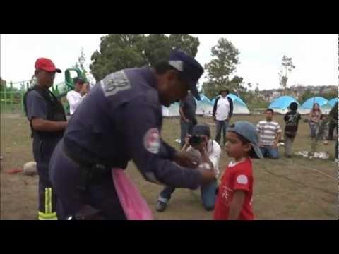 Aprenden técnicas de prevención de accidentes pequeños vulcanos de Ecatepec