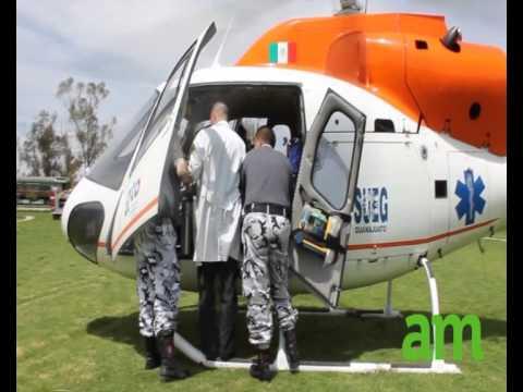 Se quema niña, La trasladan en helicóptero