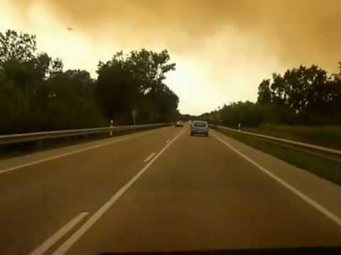22 de Julio de 2012 / Incendio forestal de la Jonquera / Girona en España