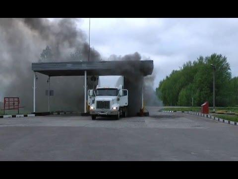 Solo en Rusia. Incendio de Camion.