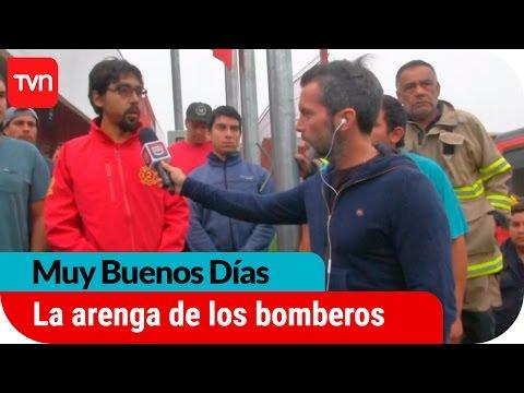 LA EMOTIVA ARENGA A LOS BOMBEROS DE CUREPTO ANTES DE SALIR NUEVAMENTE A COMBATIR LOS INCENDIOS FORESTALES - CHILE