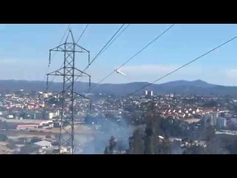ILYUSHIN II - 76 PASA BAJO EN QUILPUÉ - CHILE / Vídeo Destacado de La Hermandad de Bomberos