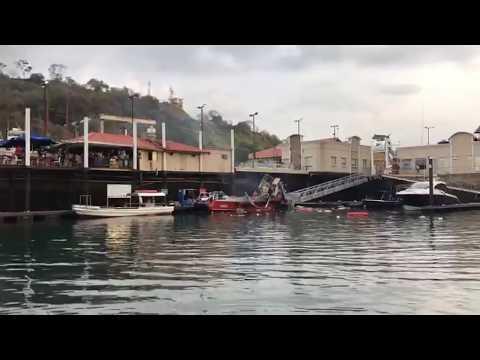 EXPLOSIÓN DE UN BARCO EN LA MARINA DE ISLA FLAMENCO  - PANAMA