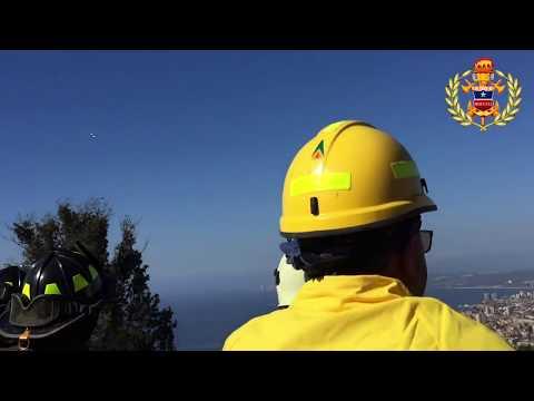 Simulacro de Bomberos Valparaíso - Cerro Florida  - Chile