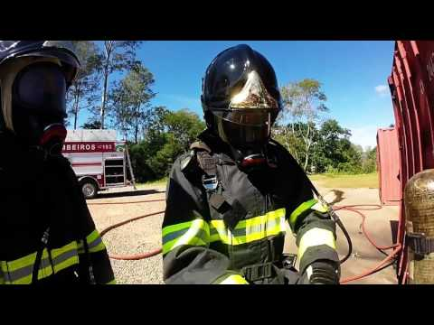 Contêiner Dragüer aula de combate a incêndio estrutural