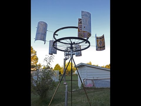 ...DIY Wind-Powered Water Pump. Cata-Vento com Bomba de Agua...