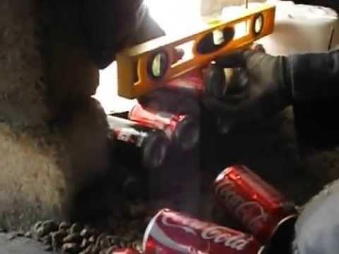 Ladrillos de latas de refresco paso a paso