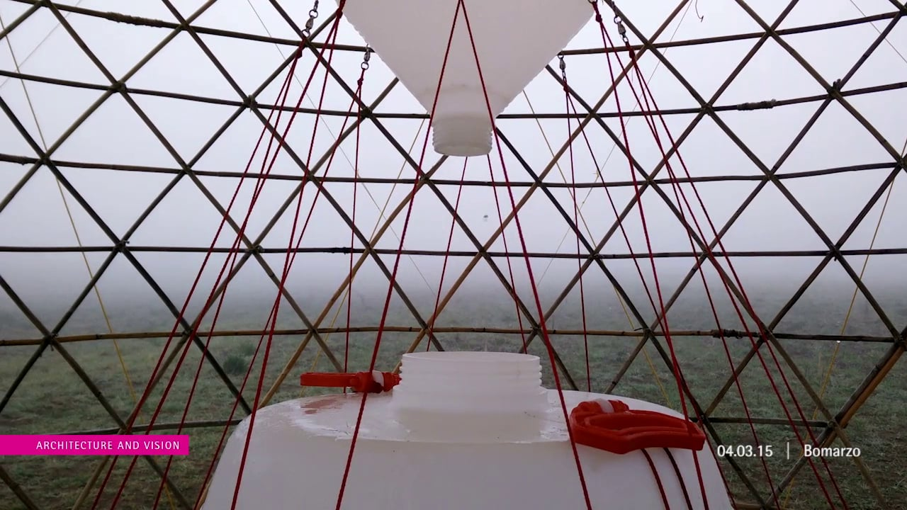 ...AGUA DEL AiRE...Warka Water 1.7 | Fog Collection...