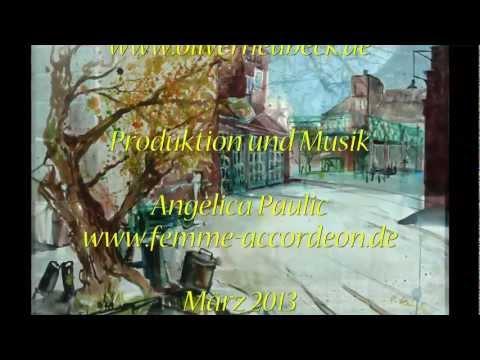 Oliver Heubeck Plein Air Künstler mit Akkordeon Musik von Angelica Paulic