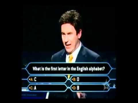 Hardest Millionaire Question[FUNNY]