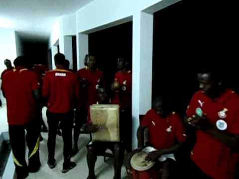 Ghana players singing the night before AFCON opener