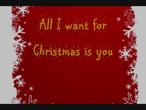 Lyrics All I Want For Christmas.Mariah Carey All I Want For Christmas Is You Lyrics On