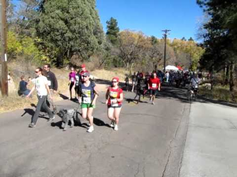 Start of the Cañya Cañon 6K race Sunday, Nov. 7, in Colorado Springs