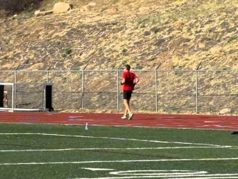 Scott Nagelkerke of Colorado Springs puts the final touches on his conditioning prior to Boston Marathon