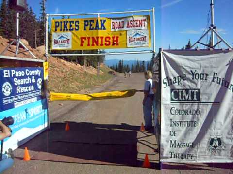 Close finish in the Pikes Peak Road Ascent
